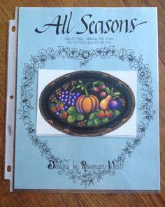 Rosemary+West+ALL+SEASONS+Painting+Pattern+:+Folk+Art+Fruit+Tray+#AllSeasonsRosemaryWest Rosemary West, West Art, Tole Painting, Painting Patterns, Folk Art, Tray, Seasons, Fruit, Design