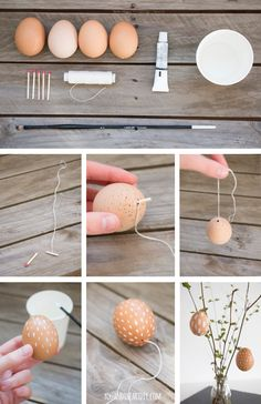 I always told my Easter eggs to stay nice and natural this year and also designed my gift packaging accordingly. Easter Tree, Easter Gift, Happy Easter, Easter Eggs, Egg Crafts, Easter Crafts, Holiday Crafts, Diy And Crafts, Diy For Kids