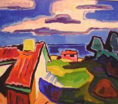 Karl Schmidt-Rottluff | Die große Wolke, 1957