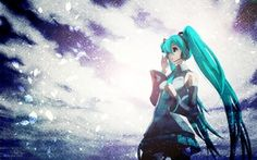 Wallpaper miku hatsune, Miku Hatsune, microphone, headphones, art, girl, long hair, vocaloid