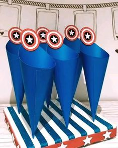 Cars Birthday Parties, Birthday Party Decorations, 4th Birthday, Captain America Party, Captain America Birthday, Anniversaire Captain America, Hulk Party, Baby George, Lets Celebrate