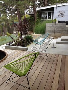 Poured concrete and decking // Costello Kennedy