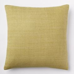 Solid Silk Hand-Loomed Pillow Cover - Pear   West Elm $29.99