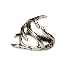 Deer Antler Ring (Solid Sterling Silver, 6)