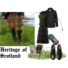 """""""Heritage of Scotland I ( 5 ) ; Men's Outfit"""" by pinki1994 on Polyvore"""