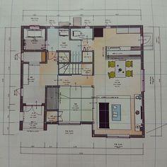 部屋全体/タマホーム/間取り図/間取りのインテリア実例 - 2018-12-13 11:02:50 | RoomClip (ルームクリップ) Floor Plans, How To Plan, Floor Plan Drawing, House Floor Plans