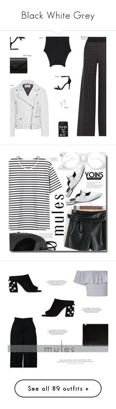 """""""Black White Grey"""" by my-names-michi ❤ liked on Polyvore featuring Bottega Veneta, Acne Studios, Casetify, Balenciaga, ootd, yoins, yoinscollection, loveyoins, mules and Givenchy"""