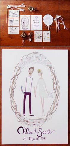 Love this paper suite | The Wedding Chicks