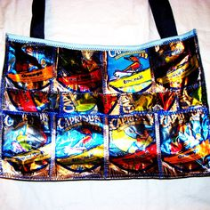 Upcycled Juice Pouch Tote Bag or Purse made by GreenDesignsByLisa, $35.00