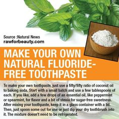 Natural fluoride free toothpaste