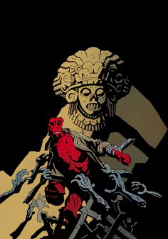 Hellboy. Mike Mignola's Hellboy didn't really do well making the jump to film. I want to blame Del Toro and the writers.