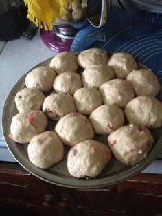 Hot cross buns before baking
