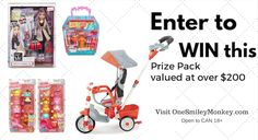 prize pack giveaway http://www.onesmileymonkey.com/reviews/toys-2/5-in-1-deluxe-ride-relax-trike-prize-pack-giveaway/#comment-205759