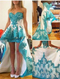 Sweetheart Lace High Low Prom Dresses Homecoming Dresses (ED1138) - Homecoming Dress - SPECIAL OCCASION DRESSES