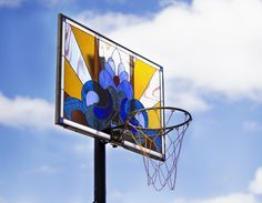 victor solomon's stained glass basketball backboards are 'literally balling'