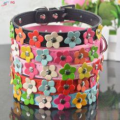 Fashion 5Colors 4 Sizes Leather Puppy Pet Dog Collar Cat Neck Strap Necklace with Studded Sweet Flower $3.97   #glam #beautiful #fashion #instastyle #style #stylish #swag #instalike #instafashion #beauty #streetstyle #iwant #fashionista #shopping #vintage