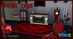 Ihelen Sims: Gothic rugs • Sims 4 Downloads