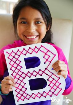 These cross stitch letters are a great way to teach kids to sew! Not only are they learning to cross stitch but also expressing themselves! These letters are the perfect confidence builder for beginner stitchers! They will be able to produce a fun decoration for their room. MichaelsMakers Skip to My Lou