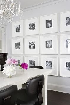 This photo wall would look stunning in the dinning room