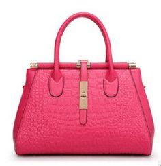 Vogue Star 2017 Women Crocodile bag pu r Handbags Woman Vintage Hand bag Brands Ladies Black Shoulder bag YB40-295