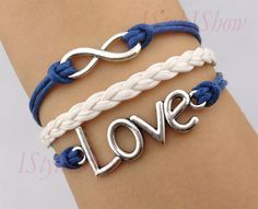 Infinity bracelet,love bracelet,Wax Cords and Imitation Leather Bracelet,charm bracelet ,friendship christmas gift