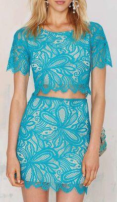 Beach Breeze Lace Skirt: