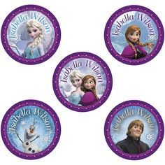 These seriously tough dot vinyl labels are the perfect practical gift for your mini Frozen fan! Each one is personalised with their Name, and can be easily applied to drink bottles, lunch boxes, school stationery and much, much more.