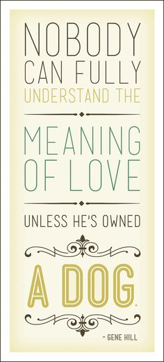 "It should say ""the meaning of being loved"", but we still like it! #dogs"