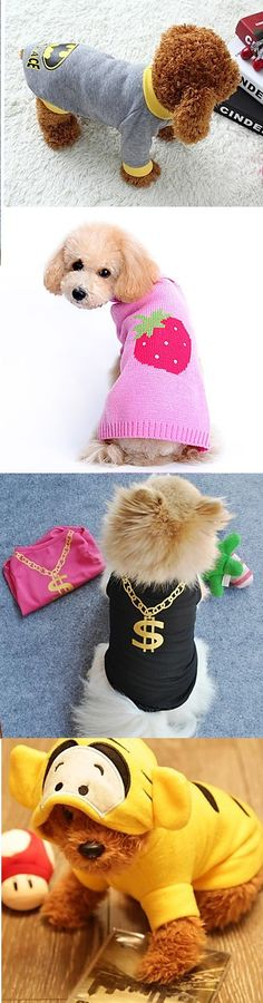 Who said dog doesn't like to wear clothes? When it comes to these awesome sweatshirts, there is no dog to resist. Get cool clothes for your pet!