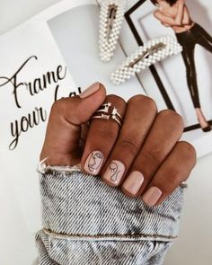 150 simple summer square acrylic nails designs in 40 my.me - 150 simple summer square acrylic nails designs in 40 my. Square Acrylic Nails, Cute Acrylic Nails, Acrylic Nail Designs, Minimalist Nails, Fancy Nails, Pretty Nails, Cute Simple Nails, Picasso Nails, Picasso Art