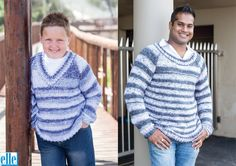 Basic Raglan Pullovers Brand: Elle Yarn: Mischief Size From: 62 cm Size To: 127 cm Baby Patterns, Baby Kids, Men Sweater, Pullover, Knitting, Children, Sweaters, How To Wear, Free