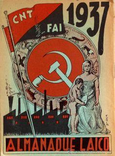 en venta - ALMANAQUE LAICO PROLETARIO 1937. CNT FAI. 22x16 cm. Guerra civil. ver fotos