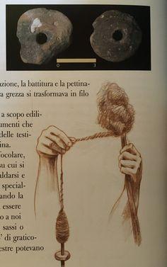 """Torbiere - fusaiole in terracotta, oggetto usato per la filatura di fibre vegetali e poi della lana.  Dal libro """" Corte Franca tra preistoria e Medioevo"""""""