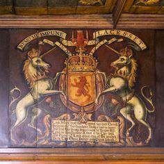 Scottish arms in the Royal Apartments at Edinburgh Castle - Edinburgh, Scotland