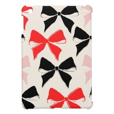 *Bow tied Chic Patterned Collection Cover For The iPad Mini