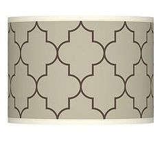 Tangier Taupe Drum 10-Inches-H Lamp Shade