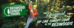 Mount Hermon » Adventures » Redwood Canopy Tours. Kayla this is one of our first stops