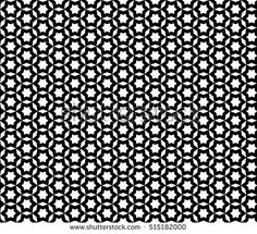 Black & white monochrome seamless pattern, vector mosaic ornamental texture, repeat abstract background. Design element for printing, stamping, decoration, wallpaper, wrapping, textile, digital, web