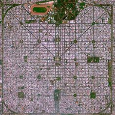 """The planned city of La Plata, the capital city of the Province of Buenos Aires, is characterized by its strict grid pattern. At the 1889 World's Fair in Paris, the new city was awarded two gold medals for the """"City of the Future"""" and """"Better performance built."""""""
