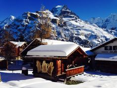 Just now :) Beautiful Winter day in Mürren Bernese Oberland Repinned by www.gorara.com
