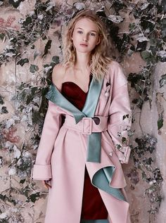 The Enchanted Forest: Nastya Sten by Agata Pospieszynska  for Harper's Bazaar UK January 2017 - Atelier Versace Fall 2016 Haute Couture