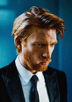 Domhnall Gleeson photographed by Tomo Brejc for Esquire UK Colin Firth, Brat Pitt, Domhall Gleeson, Esquire Uk, Ginger Models, Ginger Men, Ginger Beard, Ginger Snaps, Ex Machina