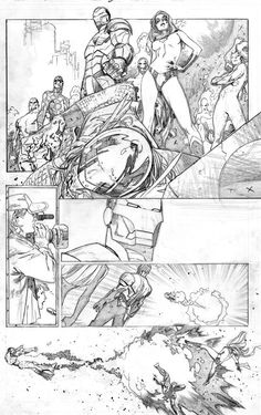Olivier coipel Black Anchor Effect Comic Book Layout, Comic Book Pages, Comic Book Artists, Comic Artist, Comic Books Art, Comic Manga, Manga Comics, Manga Drawing, Manga Art
