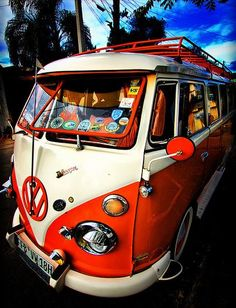 The VW Bus ~ reminds me of reading The Drifters by James Michner - Dy