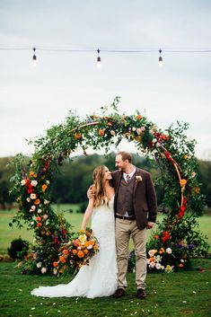 A Fall Farm Wedding That's Bursting With Color #bohowedding