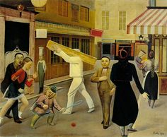 La Rue, 1935 by Balthus (Balthasar Klossowski de Rola) (Polish/French 1908-2001)