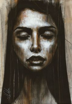 "Non Nude OIL & ACRYLIC CANVAS Painting ORIGINAL Portrait By L Dolan 16x24"" Diana"