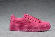 Puma Rihanna To Be Casual Picking Shoes SAO Pink Online