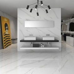 Statuary high gloss white floor tiles come in two sizes including this extra large 75 cms x 75 cms tile. this contemporary white tile has a marble effect design and come with a rating making it suitable for stylish domestic or commercial environments. Hall Flooring, Living Room Flooring, Bedroom Flooring, Flooring Tiles, Hall Tiles, Room Tiles, Italian Marble Flooring, Tile Bedroom, Bedroom Decor