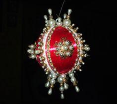 Vintage Handmade Christmas Ornament Victorian by DawnsVintageDecor